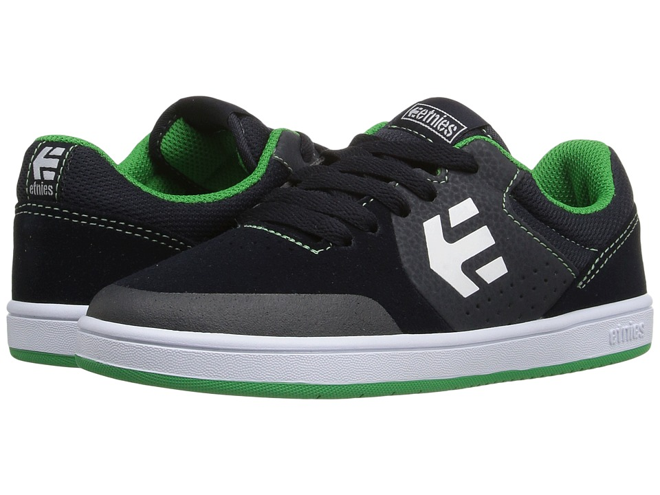 etnies Kids - Marana (Toddler/Little Kid/Big Kid) (Blue/Green Suede/Synthetic) Boys Shoes