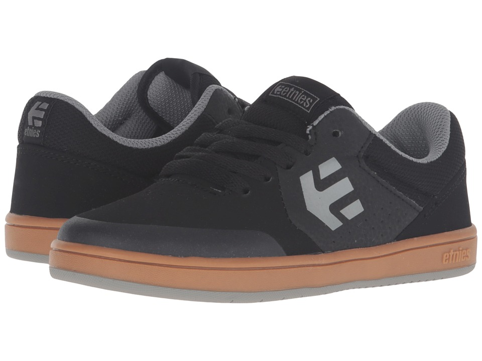 etnies Kids - Marana (Toddler/Little Kid/Big Kid) (Black/Gum/Grey Suede/Synthetic) Boys Shoes