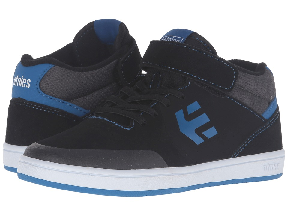 etnies Kids - Marana MT (Toddler/Little Kid/Big Kid) (Black/Blue/Grey Suede/Textile/Synthetic) Boys Shoes