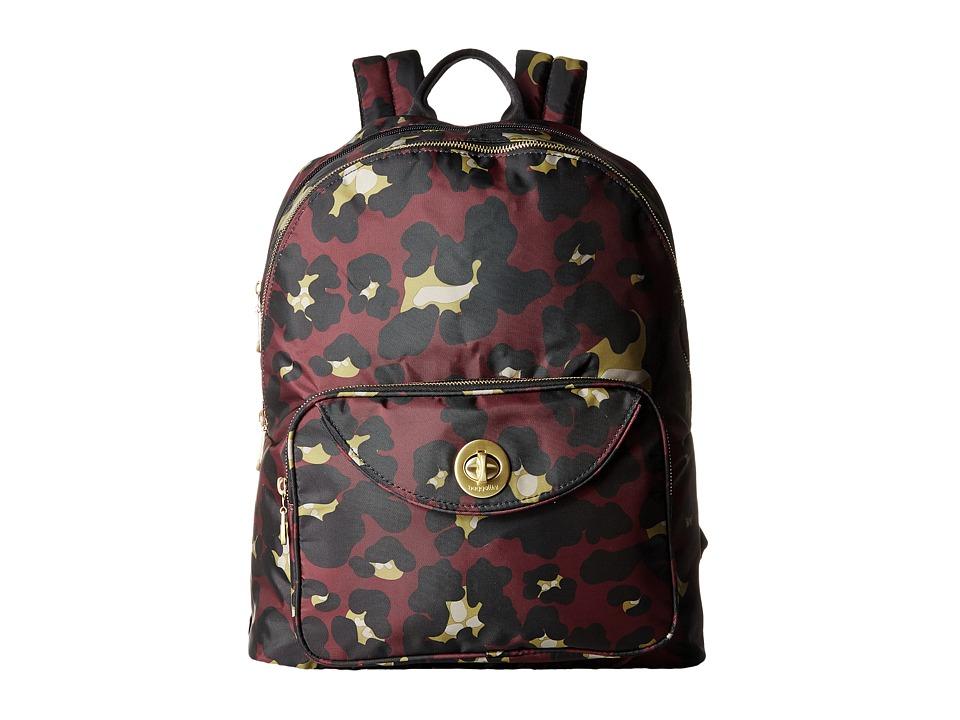 Baggallini - Gold Brussels Laptop Backpack (Scarlet Cheetah) Backpack Bags