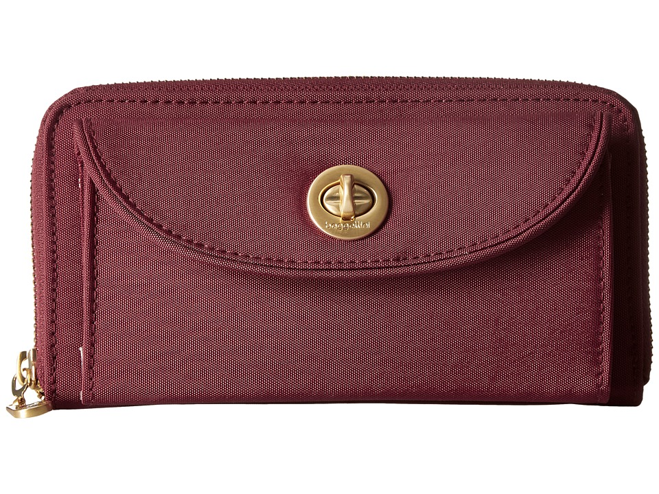 Baggallini - Gold Kyoto RFID Wallet (Scarlet) Wallet Handbags