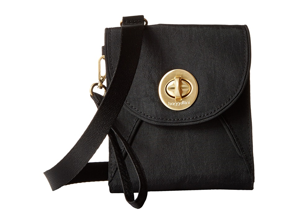 Baggallini Gold Athens RFID Crossbody Wallet (Black) Cross Body Handbags