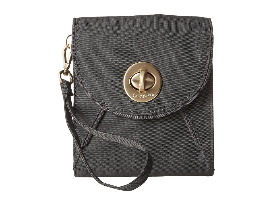 Baggallini Gold Athens RFID Crossbody Wallet (Charcoal) Cross Body Handbags