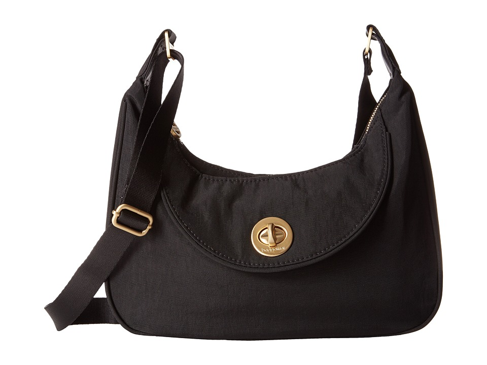 Baggallini Gold Oslo Small Hobo (Black) Hobo Handbags