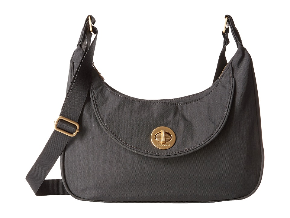 Baggallini Gold Oslo Small Hobo (Charcoal) Hobo Handbags