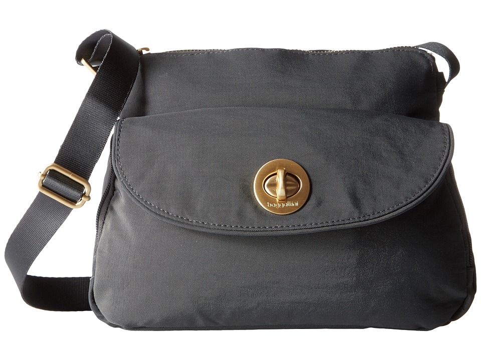 Baggallini Gold Provence Crossbody (Charcoal) Cross Body Handbags