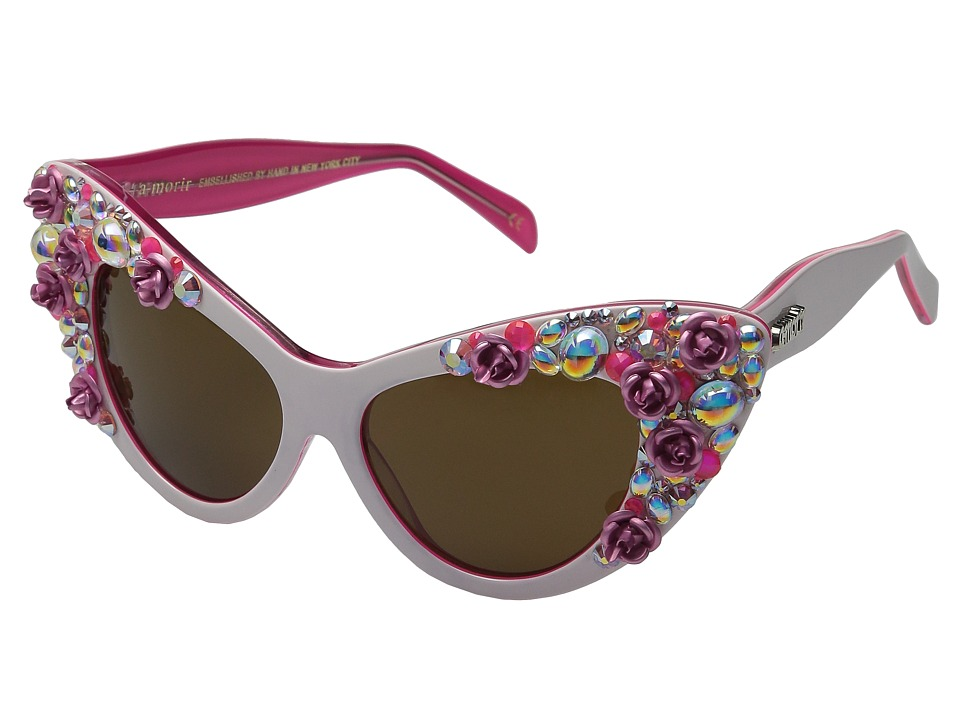 A Morir Jayne White Rose Fashion Sunglasses