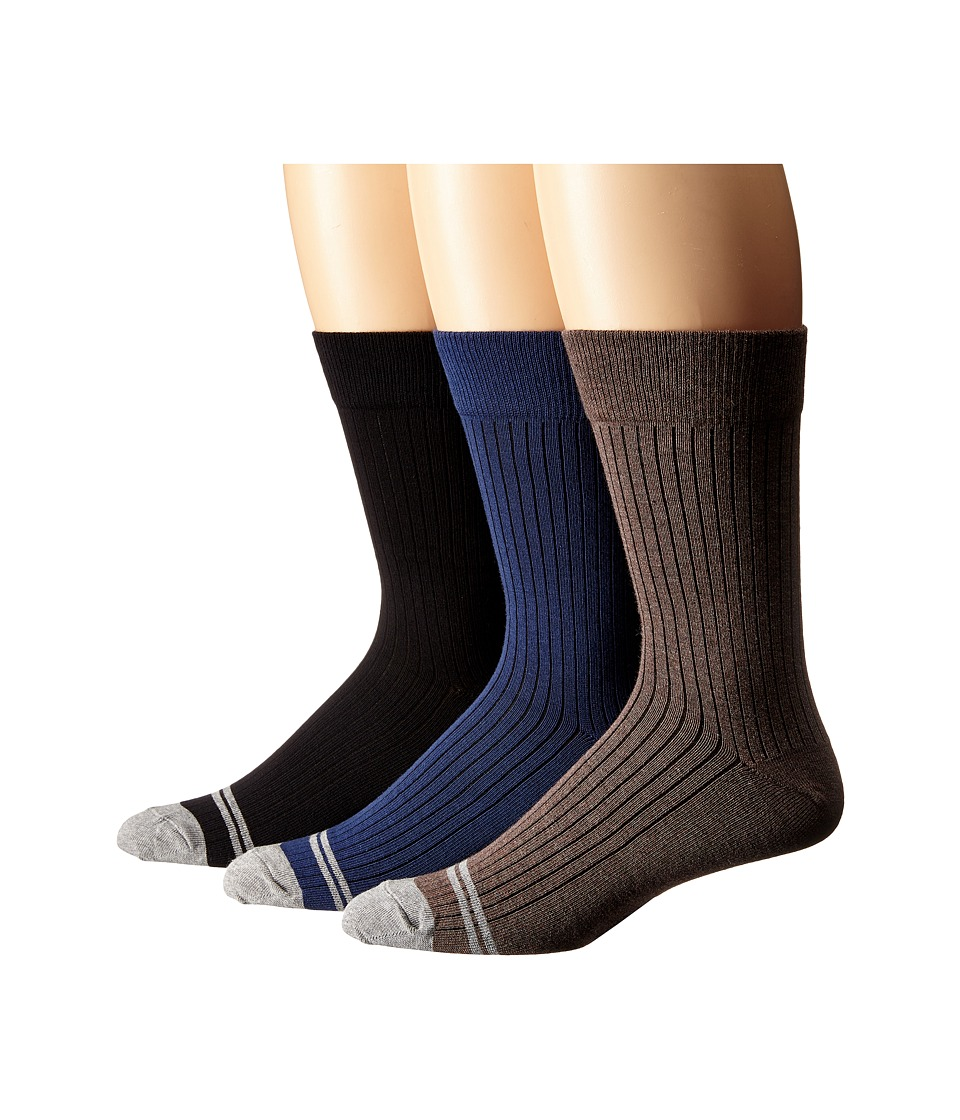 PACT Everyday Crew Socks 6 Pack Multi Mens Crew Cut Socks Shoes