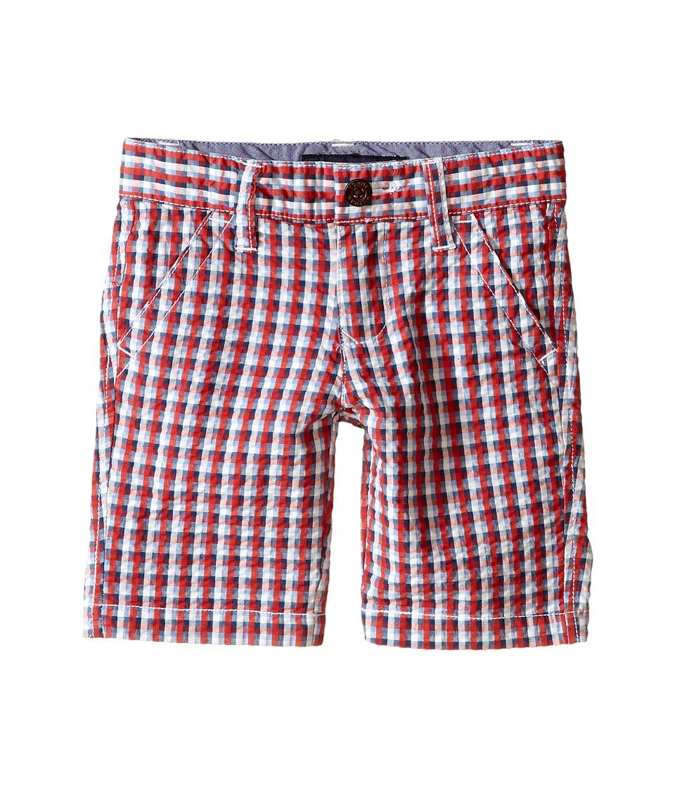 Tommy Hilfiger Kids Gingham Flat Front Shorts Toddler/Little Kids Red Geranium Boys Shorts