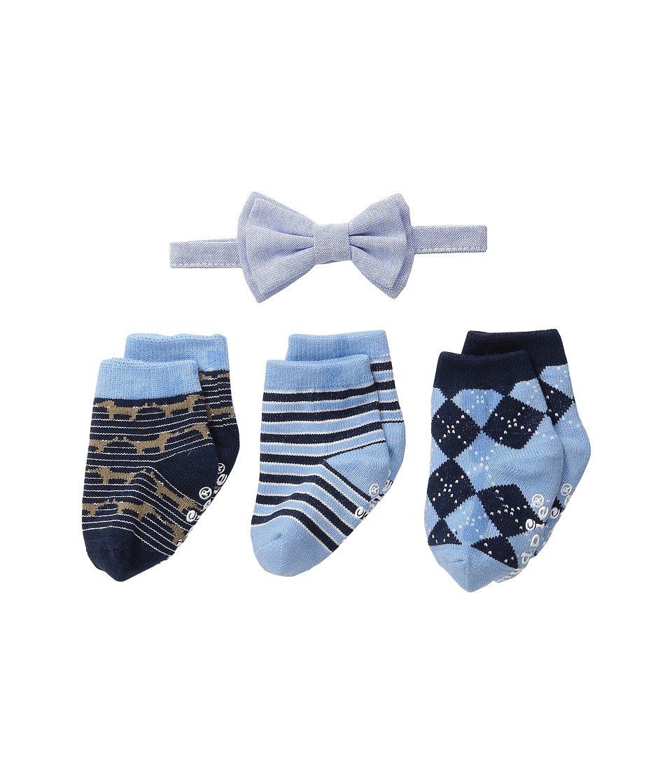 Mud Pie Sock Bowtie Gift Set Infant Blue Accessories Travel
