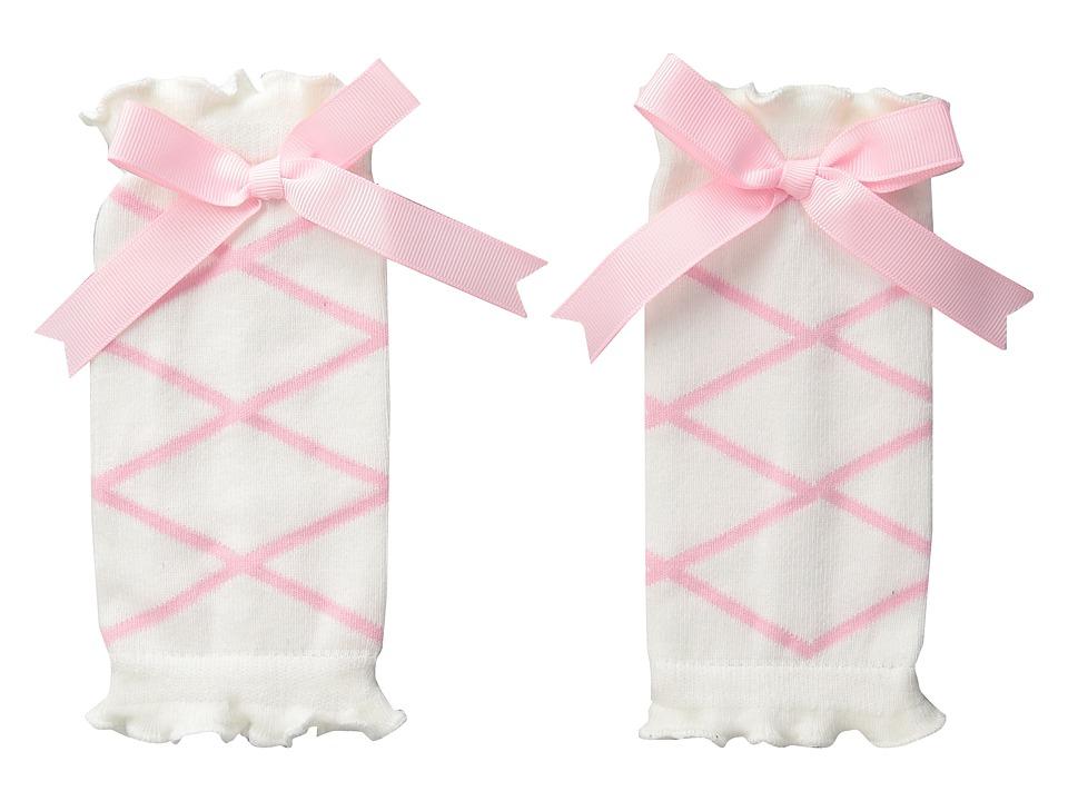 Mud Pie Ballet Leg Warmers Pink/White Accessories Travel
