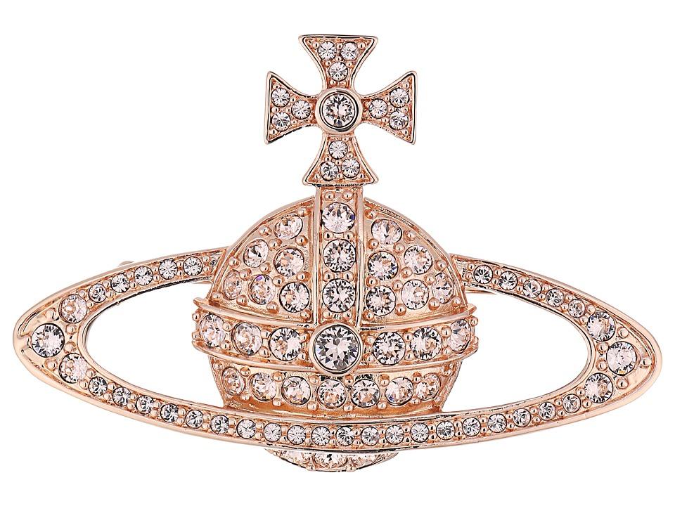 Vivienne Westwood - Bas Relief Brooch (Silk Crystals) Brooches Pins