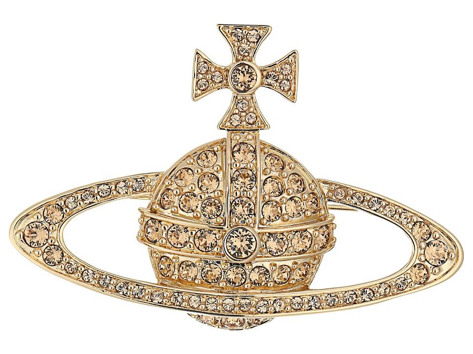 Vivienne Westwood - Bas Relief Brooch (Light Colorado) Brooches Pins