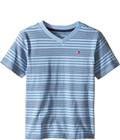 Tommy Hilfiger Kids - Larry Stripe V-Neck Tee (Toddler/Little Kids)