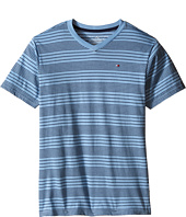Tommy Hilfiger Kids - Larry Stripe V-Neck Tee (Big Kids)