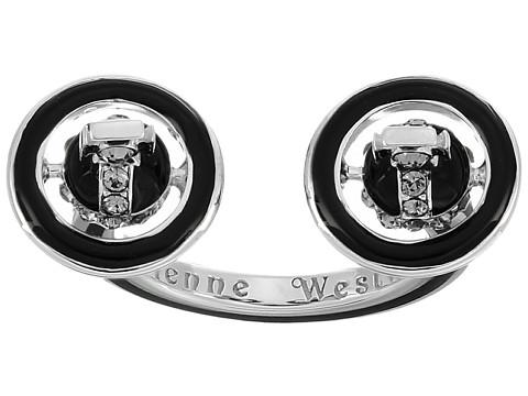 Vivienne Westwood Iona Ring - Black Enamel/Black