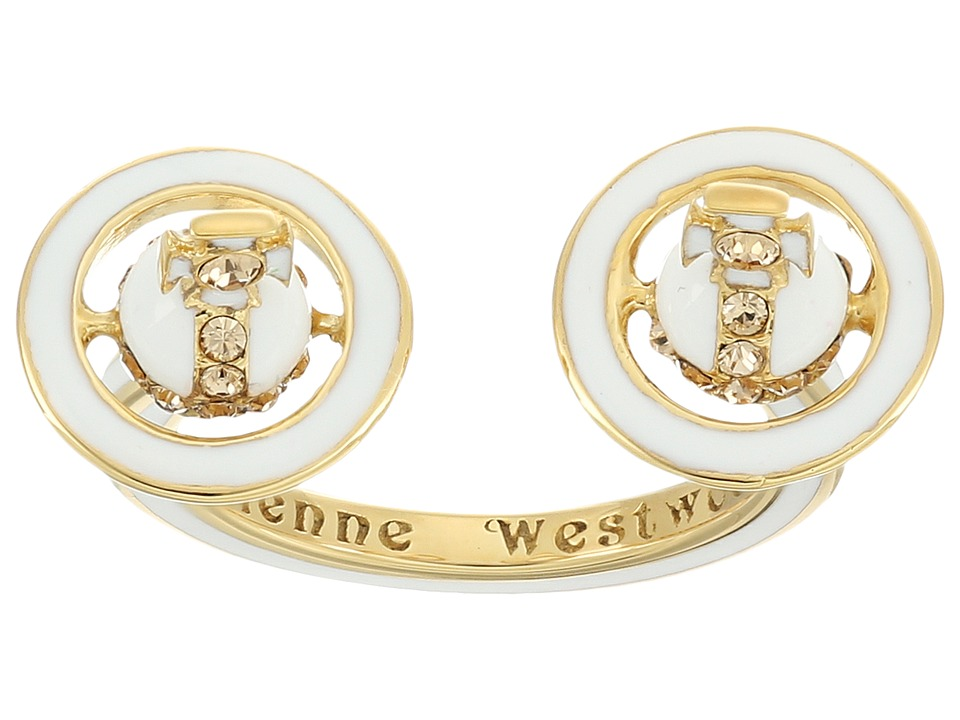 Vivienne Westwood Iona Ring (White Enamel/Light) Ring
