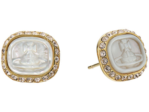 Vivienne Westwood Edith Earrings - White Mother-of-Pearl/Gold