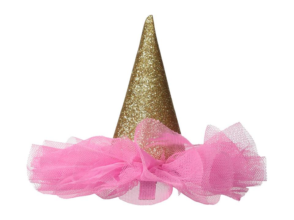 Mud Pie Glitter Party Hat Clip Pink Accessories Travel