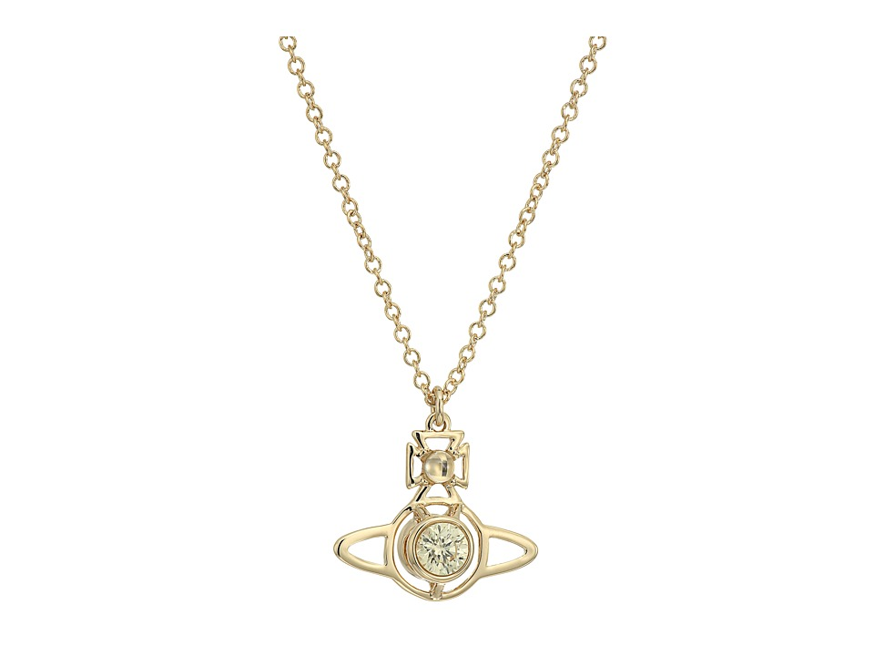 Vivienne Westwood - Nora Pendant Necklace (Yellow Cubic) Necklace