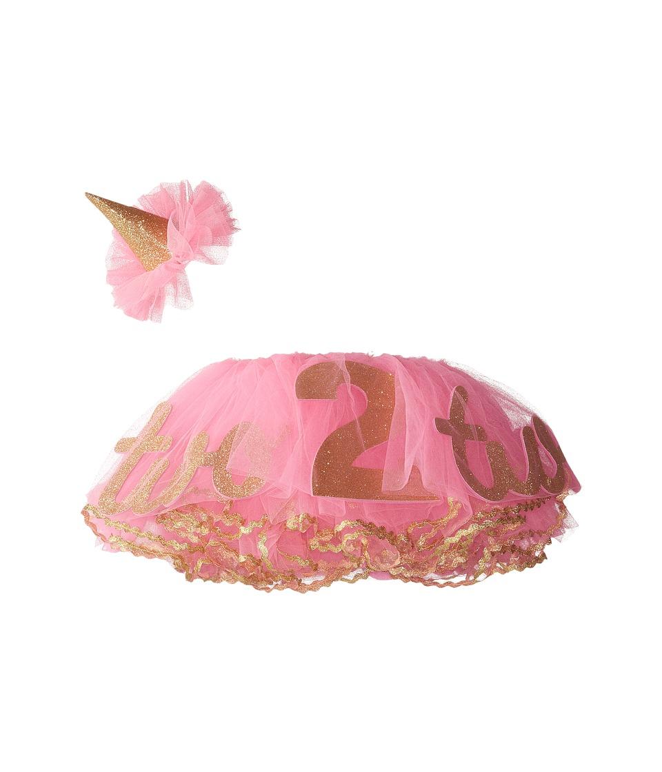 Mud Pie Glitter 2nd Birthday Tutu Set Toddler Pink Girls Active Sets
