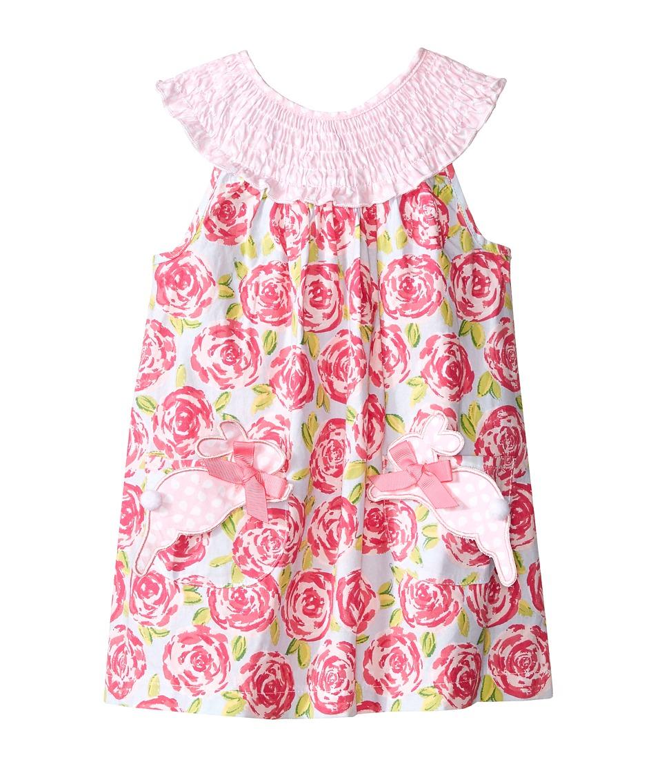 Mud Pie Bunny Dress Infant Pink Girls Dress