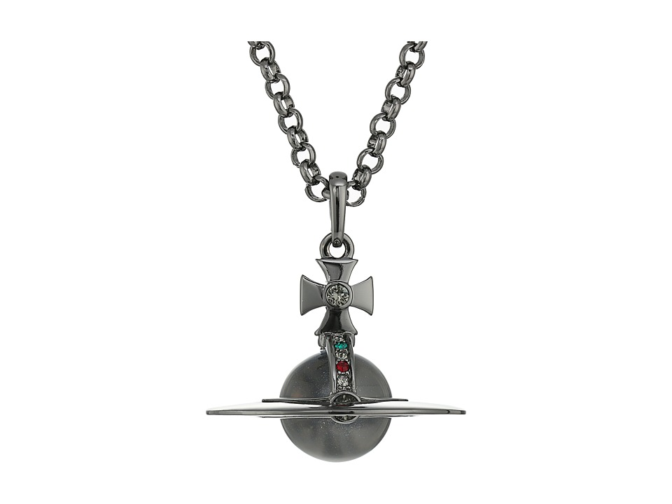 Vivienne Westwood - New Small Orb Pendant (Emerald) Necklace