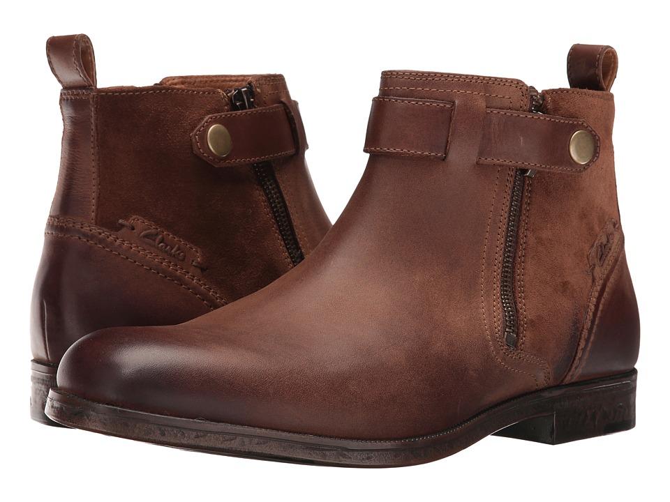 Clarks Brocton Mid (Tan Leather) Men