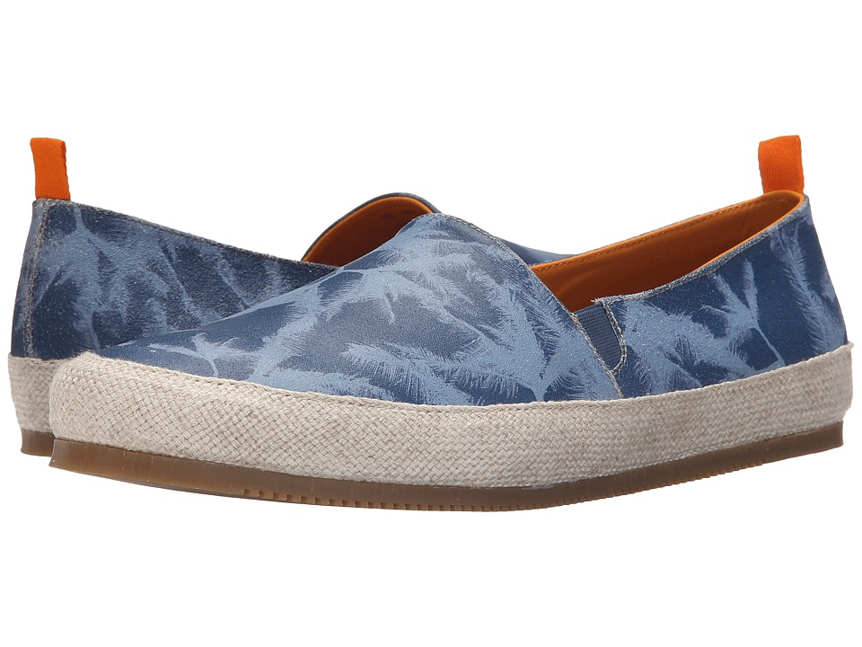 Mulo Print Suede Espadrille Blue Palm Mens Shoes