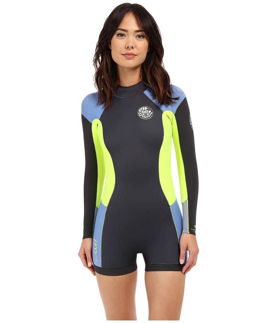 Rip Curl Dawn Patrol L/S Springsuit Blue Womens Swimsuits One Piece