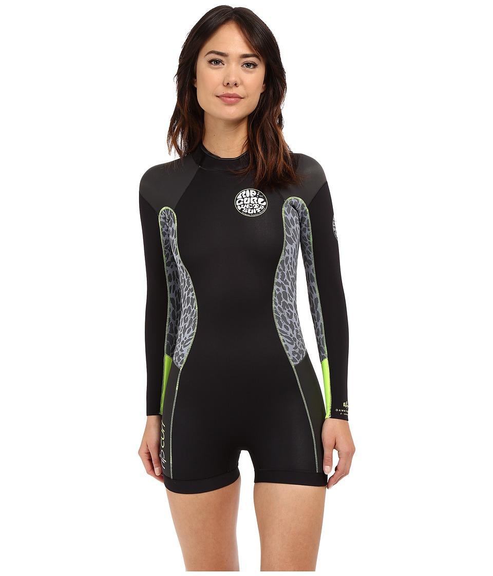 Rip Curl Dawn Patrol L/S Springsuit Lemon Womens Swimsuits One Piece