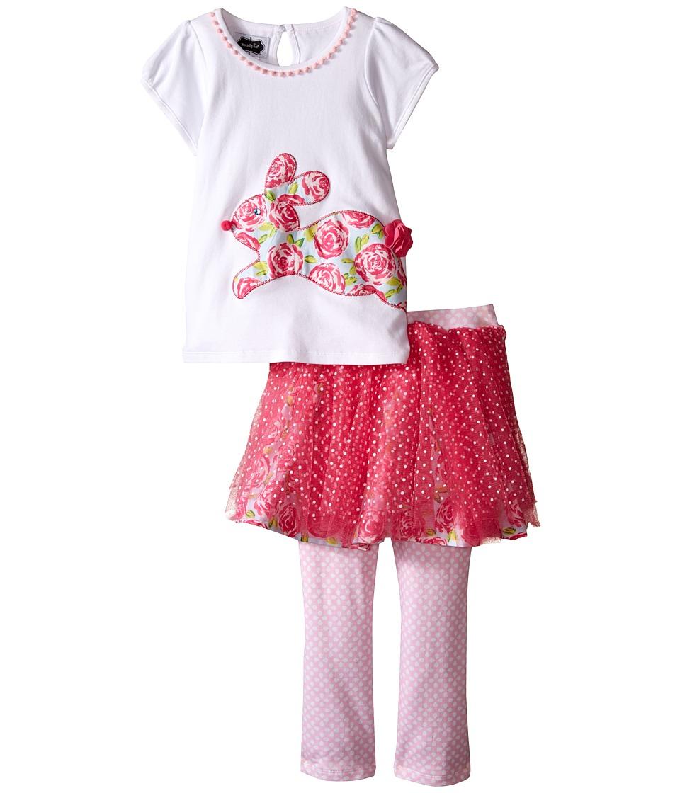 Mud Pie Bunny Tutu Skirt Set Toddler Pink Girls Skirt
