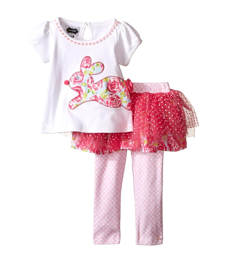 Mud Pie Bunny Tutu Skirt Set Infant Pink Girls Skirt