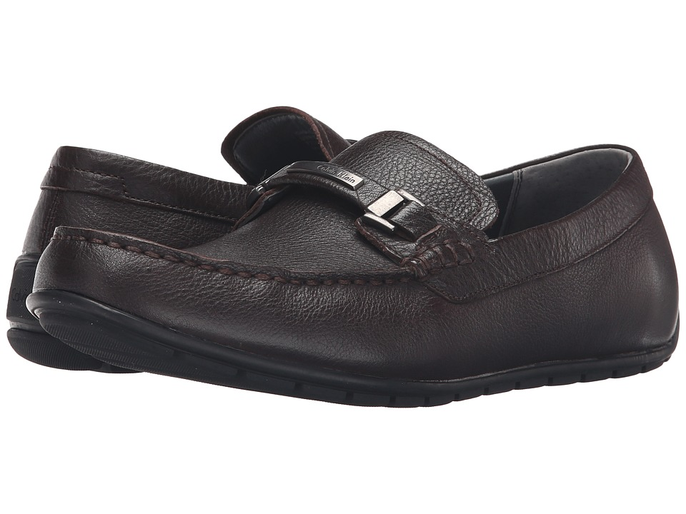 Calvin Klein - Ignacio (Dark Brown Tumbled Cow Leather) Men