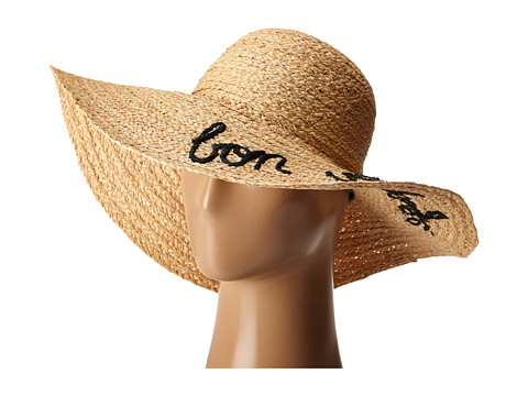 Hat Attack What s Your Motto Sun Hat - Black/Bon Voyage