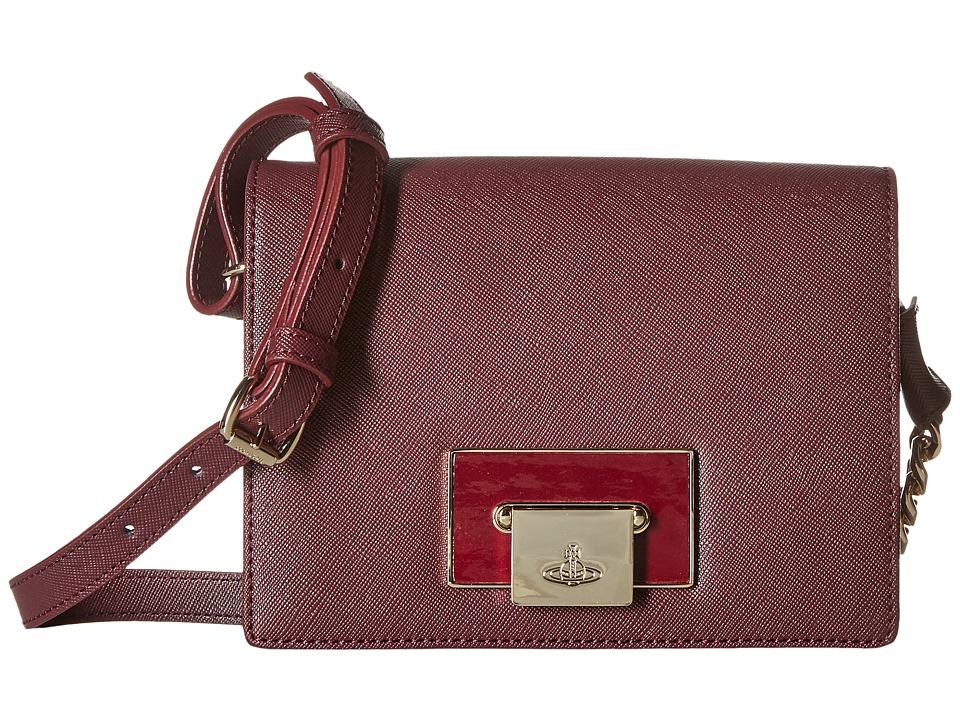 Vivienne Westwood - Opio Saffiano Bag (Bordeaux) Handbags