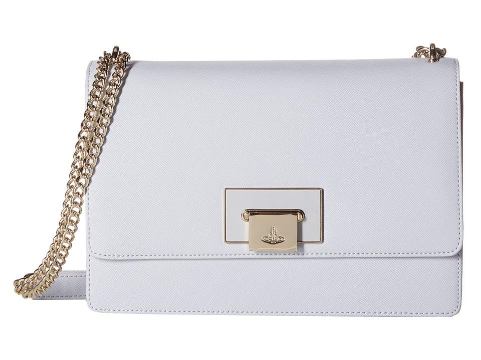 Vivienne Westwood - Opio Saffiano Bag (Grey) Handbags