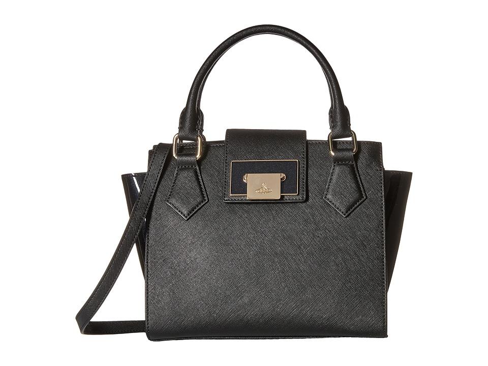 Vivienne Westwood - Opio Saffiano Bag (Black) Handbags