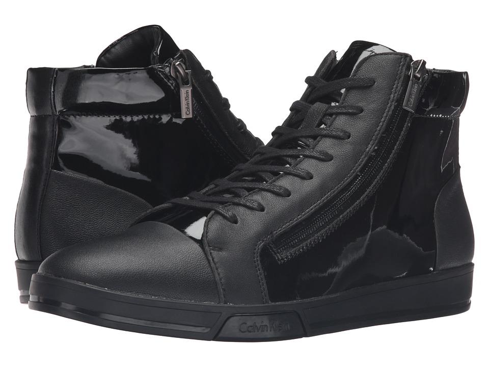 Calvin Klein - Berke (Black Leather/Patent/Smooth) Men