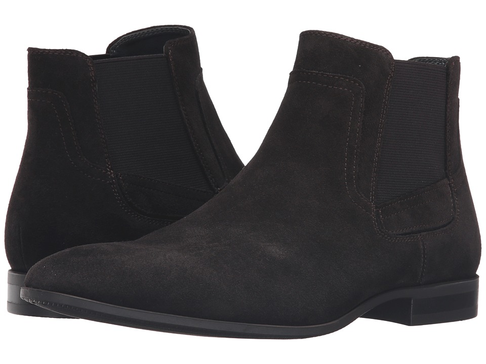 Calvin Klein - Clarke (Dark Brown Oily Suede/Gore) Men