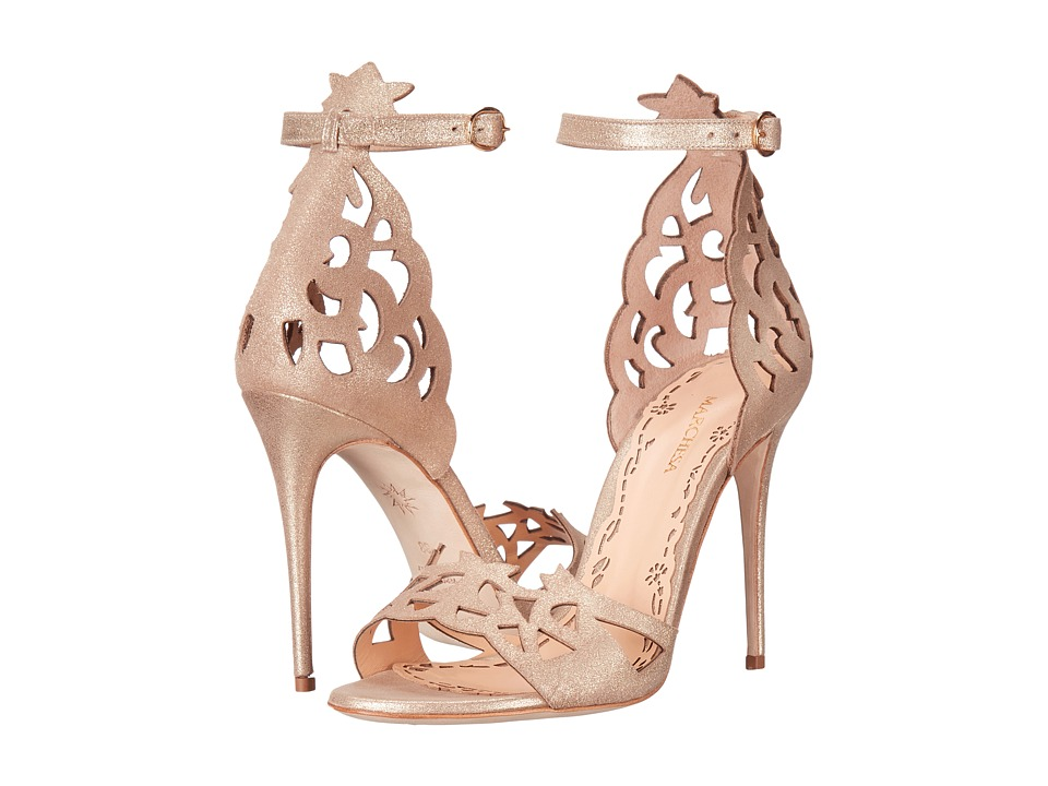 Marchesa Jenna (Light Gold Brushed Suede) Women