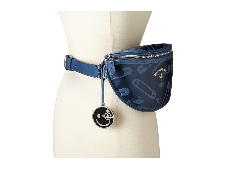 Vivienne Westwood - Safety Pin Bag (Blue) Handbags