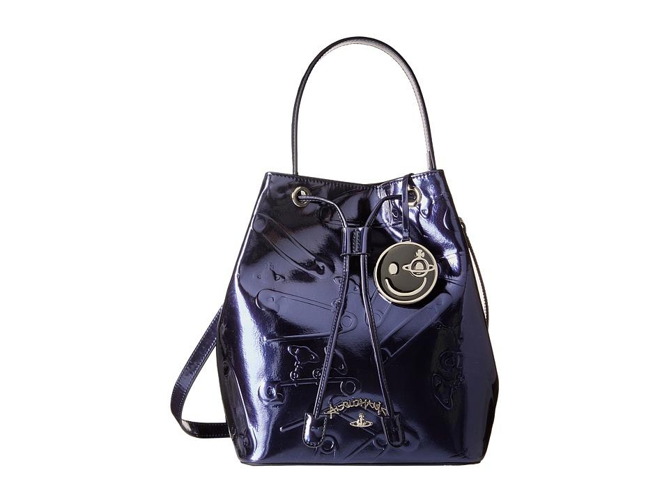 Vivienne Westwood - Safety Pin Bag (Blue Metal) Handbags