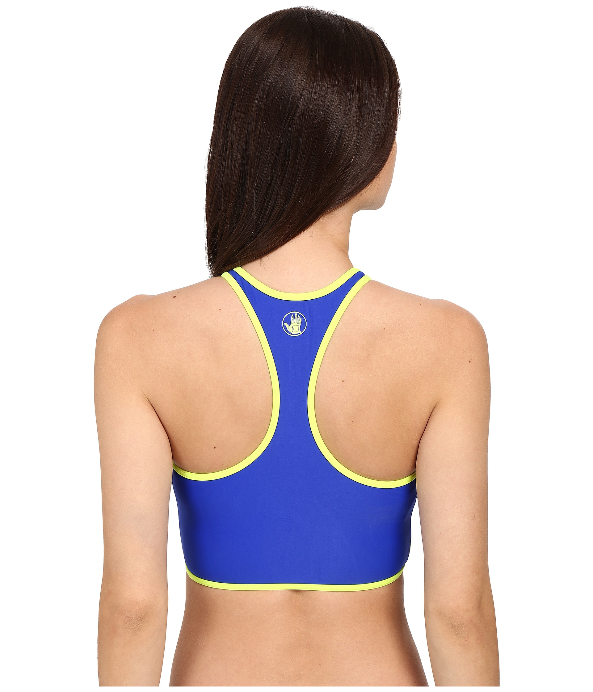 Body Glove Borderline Zip Front Crop Top At Zapposcom