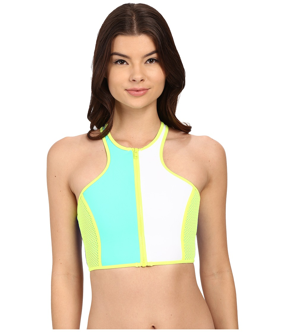 Body Glove Borderline Zip Front Crop Top Abyss Womens Swimwear