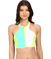 Body Glove - Borderline Zip Front Crop Top