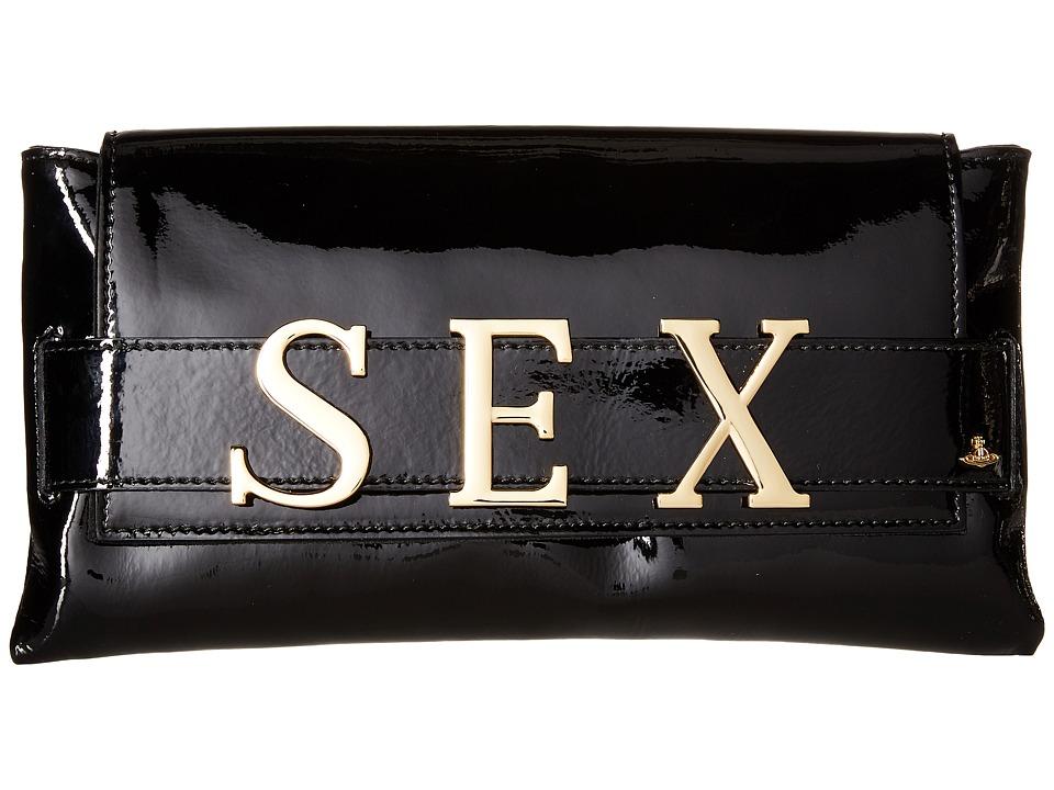 Vivienne Westwood - Sex Bag (Black) Clutch Handbags