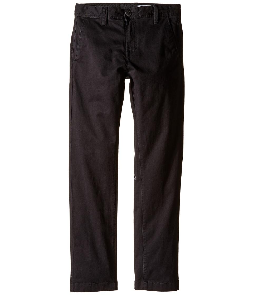 Volcom Kids - Frickin Slim Chino Pants (Big Kids) (Black) Boys Casual Pants