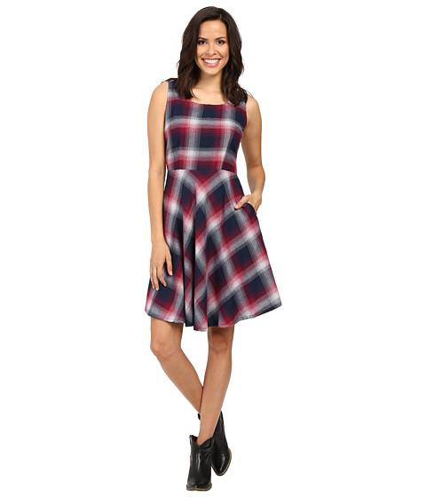 Stetson Pomegrante Plaid Sleeveless Dress