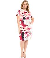 Calvin Klein Plus - Plus Size Print Sheath w/ Cap Sleeve